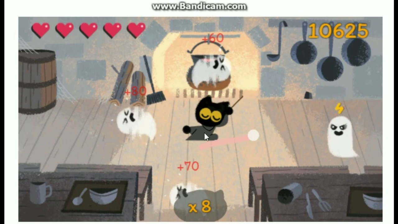 Google Halloween Doodle Game 2016 - Momo The Magic Cat - YouTube