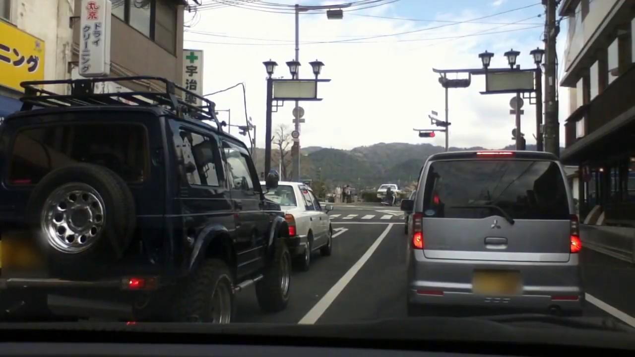 交通事故] タクシー単独事故の瞬...