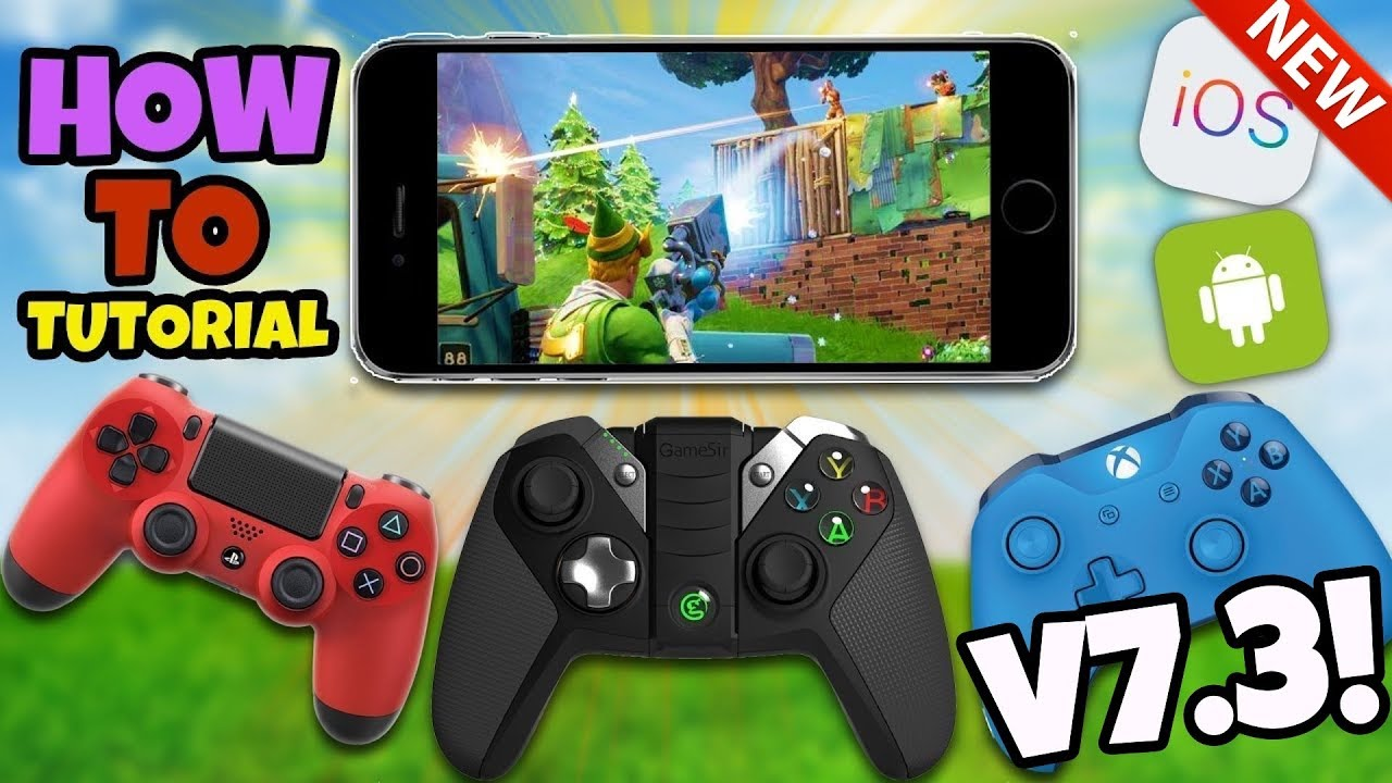 *NEW* How To Use A Controller In Fortnite Mobile - Fortnite IOS Android  UPDATE V7 3 (No Hack/Cheat)