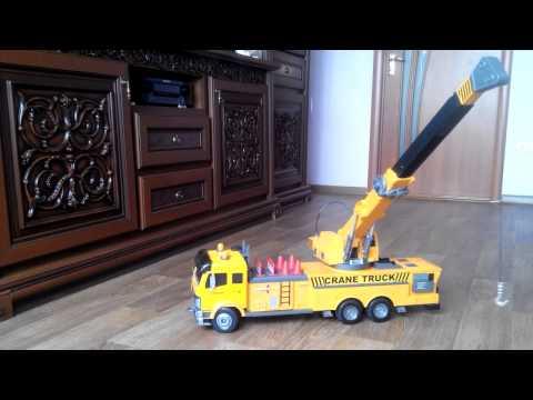 Кран на пульте игрушечный   обзор китайского авто