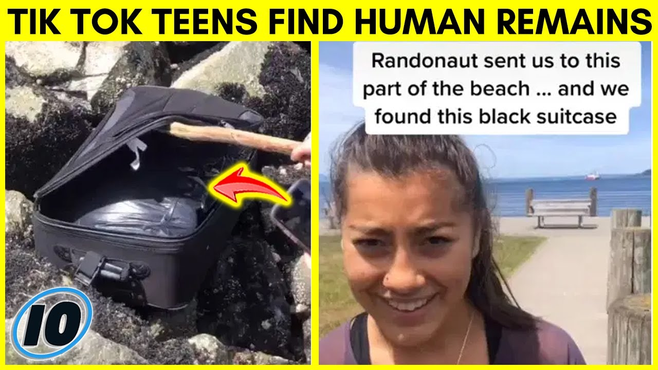 Tik Tok Users Find Something Shocking In Suitcase On A Beach