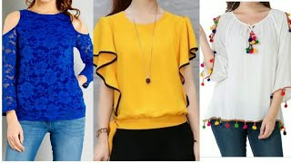 Stylish Top Designs Ideas For College Girls || Beautiful Top Design || Latest Top Collection