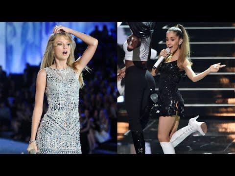 Taylor Swift  Ariana Grande Victorias Secret Fashion Show Performances - 2014