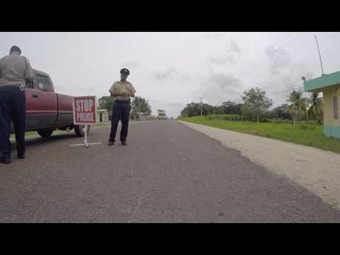 Quading thru a police checkpoint in Belize
