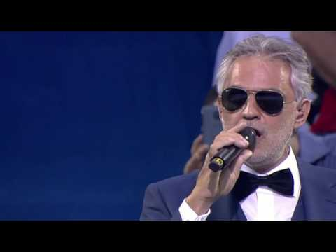 Andrea Bocelli UEFA Champions League final opening ceremony 2016