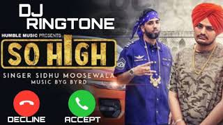 SO HIGH - Sidhu Moose Wala | New Punjabi Song Ringtone Download 👇 | New Punjabi Song 2020