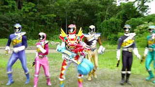 Power Ranger Dino Super Charge | Rangers vs Spell Digger - Capitulo 8