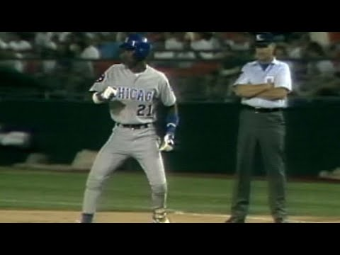 Sammy Sosa Collects his Sixth Hit of the Game