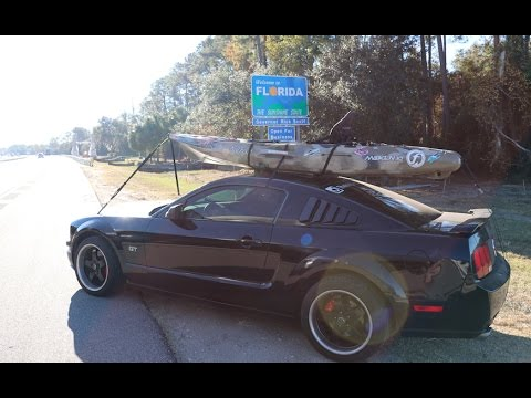 Fishing Kayak On A Mustang Gt Travel Vlog Youtube