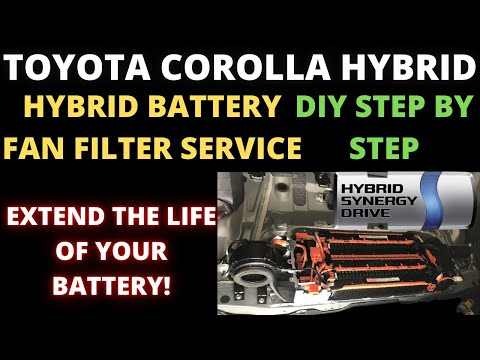 How to replace Hybrid Battery Fan Filter : 2020+ Toyota Corolla
