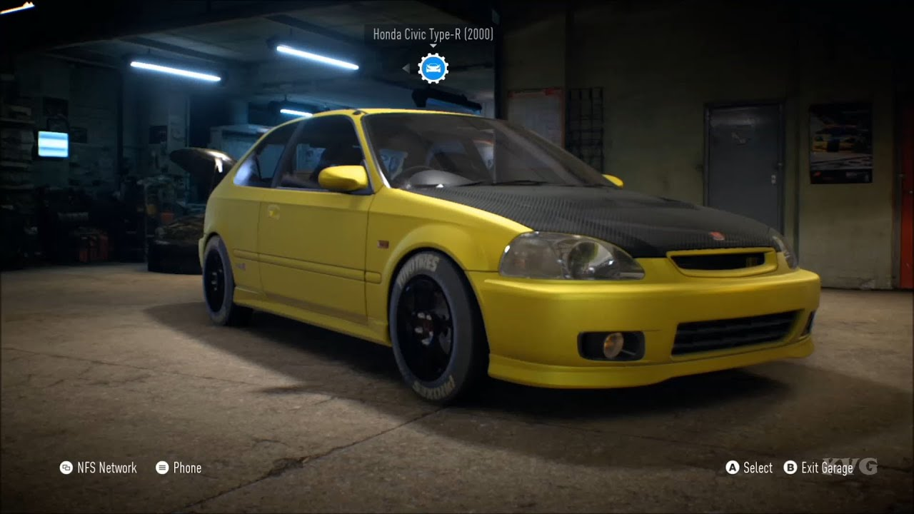 Racing Car Wallpaper 1080p Need For Speed 2015 Honda Civic Type R 2000 Customize