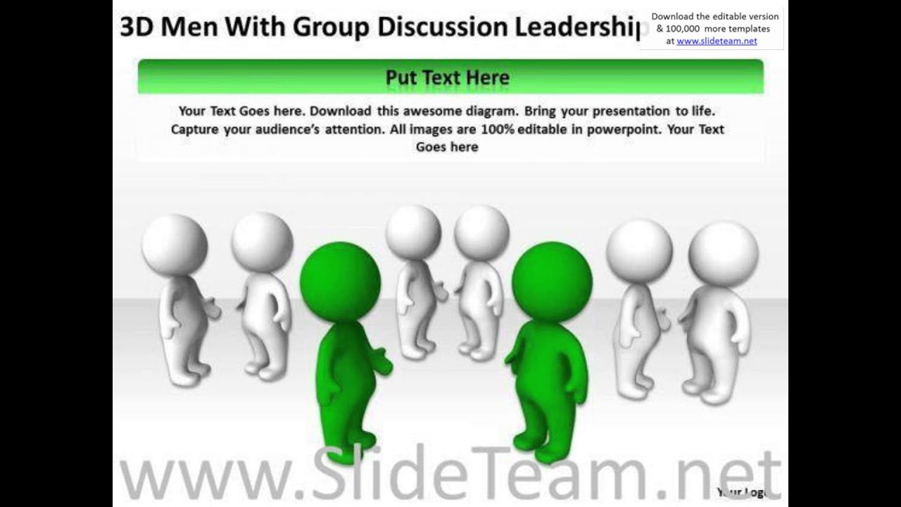 medium resolution of work flow business process diagram 3d men with group discussion leadership powerpoint slides present