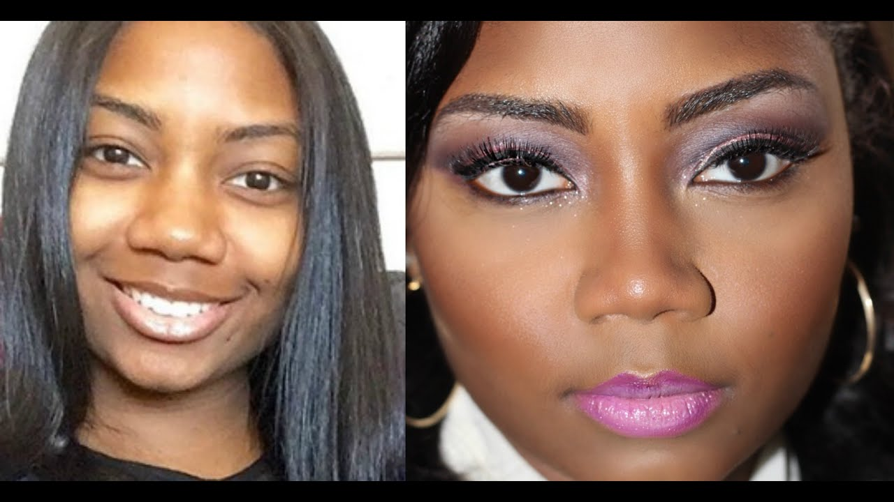makeup for round face|wide nose|dark skin |survivingbeauty2 - youtube