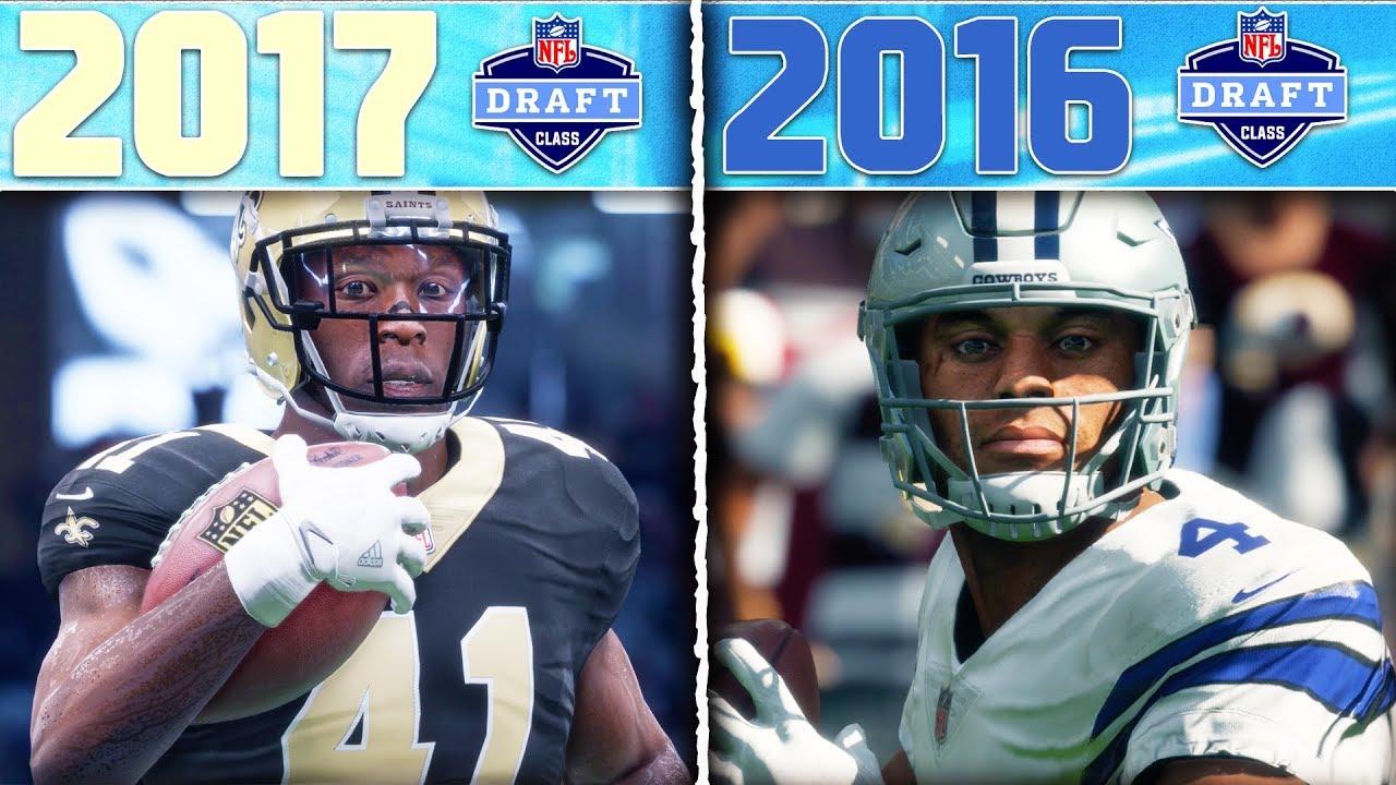 2017 NFL DRAFT CLASS vs. 2016 NFL DRAFT CLASS | Madden 18 Draft Class Tournament Game 1