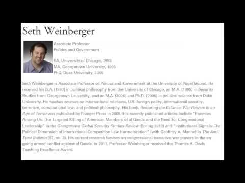 Seth Weinberger - Trump as National Security Threat?