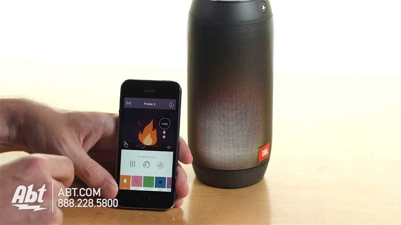 JBL Pulse 2 Bluetooth Speaker With Interactive Light Show JBLPULSE2BLKUS -  Overview