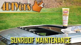 How to Clean and Lubricate a Slow or Sticking Sunroof Mechanism using DeoxIT