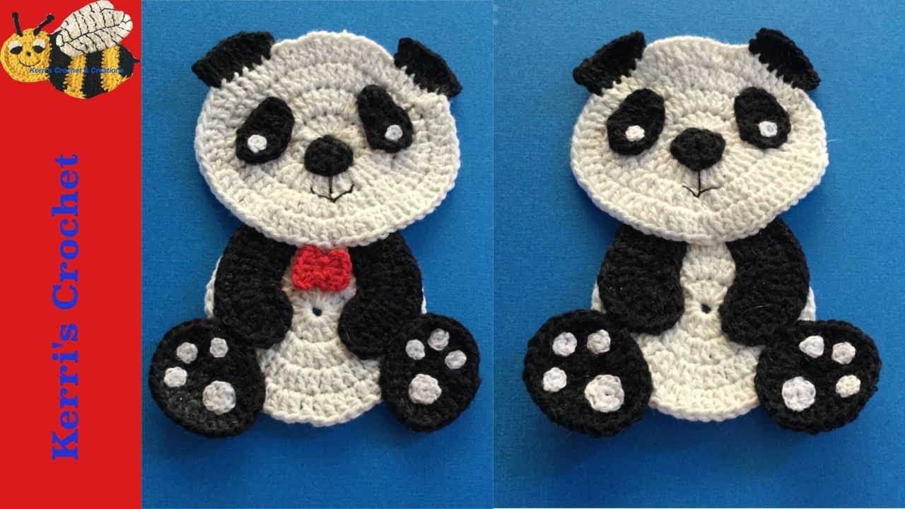 Sitting Panda Crochet Pattern Tutorial - YouTube