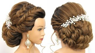 Bridal Updo Tutorial.  Wedding Prom Hairstyles For Long Hair