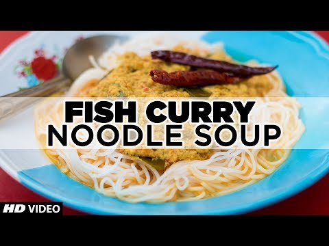 TASTY THAI STREET FOOD   FISH CURRY NOODLE SOUP