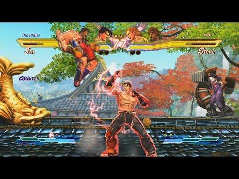 PC Street Fighter X Tekken Jin + Ruy ตัด เกมส์เต็มด่าน 3,7,บอส ยากปานกลาง