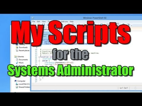 My PowerShell Scripts - Systems Administration
