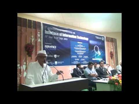 Speech by Hon. Balasaheb Vikhe Patil in 1st International Conference-2013 held @ IBMRD