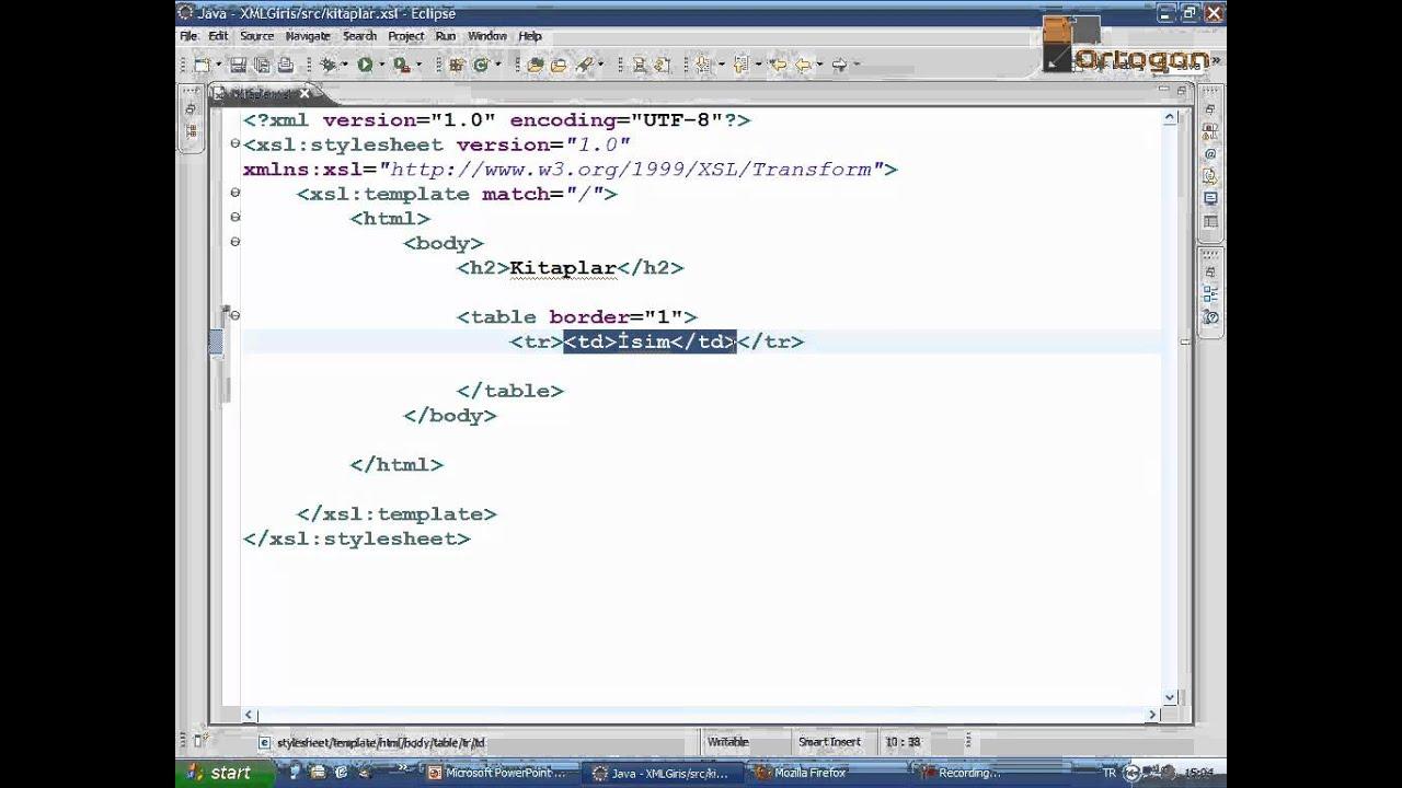 XML Ders4: XSL ve XPATH (Ortogon) - YouTube