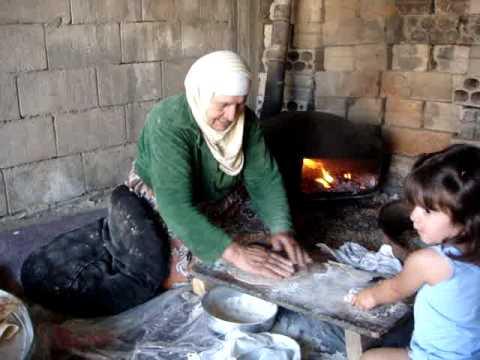 خبز الصاج ام مصطفى como hace el propio pan arabe