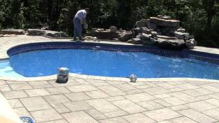 PoolSkim Automatic Pool Surface Skimmer Installation with Timelapse