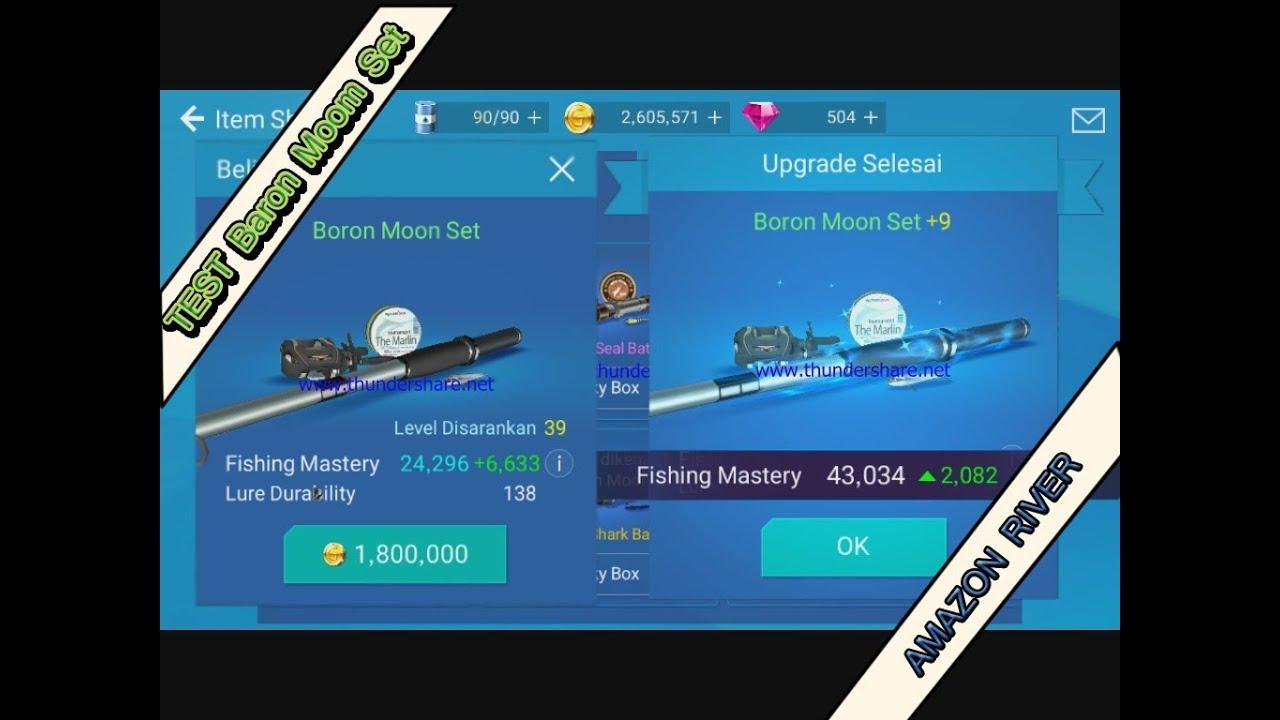 Test baron moon set fishing strike blustack player for Fishing rod sun and moon