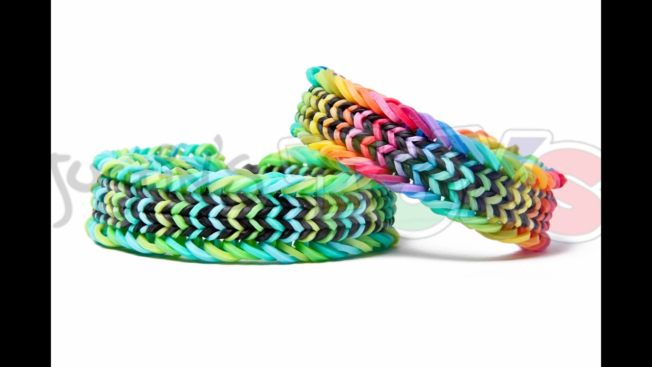 Fishtail rainbow loom bracelet tutorial