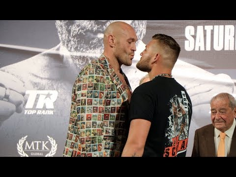 'IM A BAD MAN' - TYSON FURY TELLS TOM SCHWARZ AS IN GOES TO PLANT KISS ON HIM IN FACE OFF
