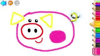 Учимся рисовать #6. Рисуем 🎨 домашних животных. Рисовалка для малышей. Learning to draw.