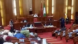 Saraki Arrives National Assembly As Siege Ends, 15 APC Senators Defect To PDP