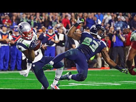 Malcolm Butler picks off Russell Wilson at the 2 yard line in the superbowl