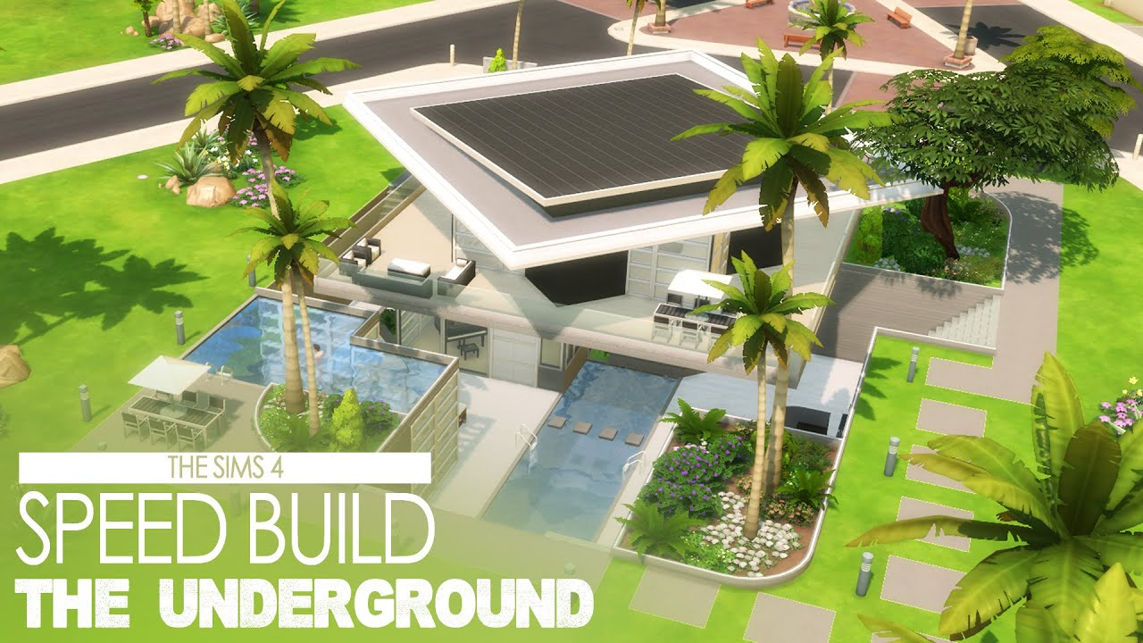 Subterranean House The Sims 4 Speed Build The Underground Youtube