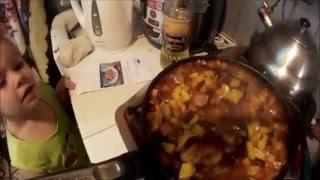 Готвим дома тушеная свинина с овощами по грузински!!!!