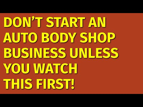 How To Start An Auto Body Shop Business | Including Free Auto Body Shop Business Plan Template