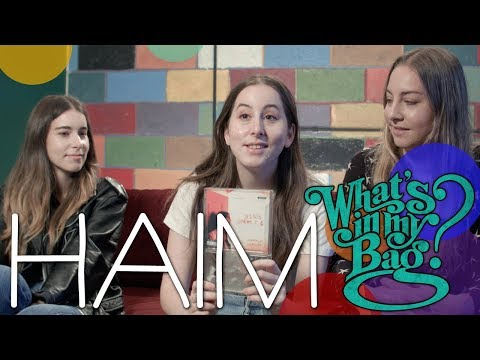 HAIM - What's in My Bag?