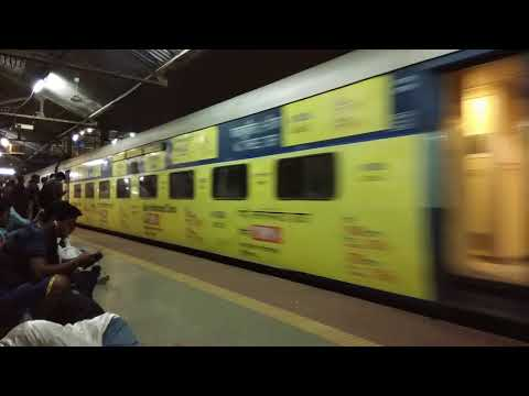 Offlink SRC WAP4 11057 Mumbai - Amritsar Pathankot Express Entering Thane Station