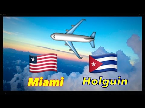 American Airlines From Frank Pais Airport Holguin Cuba to Miami International Airport