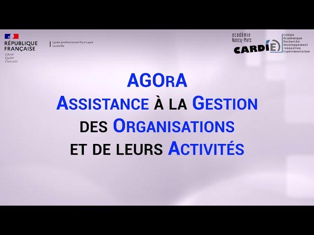 Lycée Paul Lapie à Lunéville -  2nde GATL  spécialité AGOrA