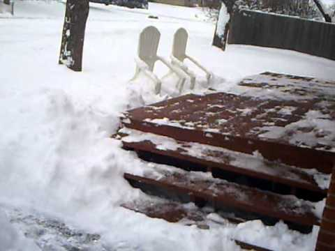 12/22/11 Winter Storm, Arvada, Colorado (And I Shovel Alone)