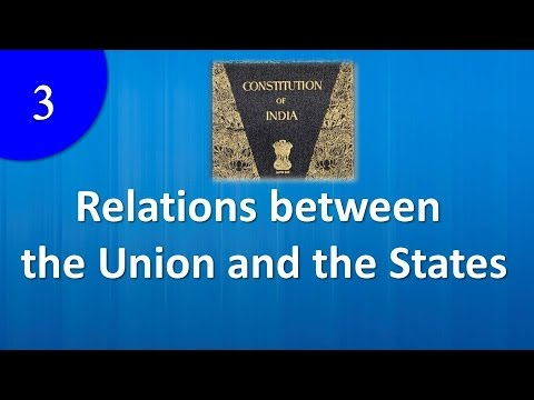 Relations between the Union and the States