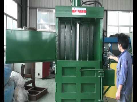Pet Bottle Hydraulic Baling Machine Youtube