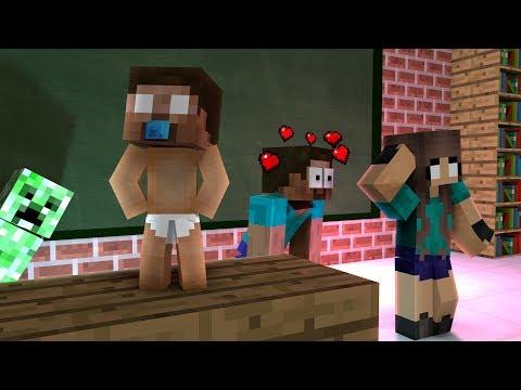 Monster School: BABYSITTING CHALLENGE IN SCHOOL!! - Minecraft Animation