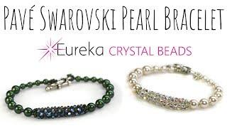 Create Leah's Pavé Swarovski Crystal & Pearl Bracelet