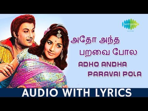 Adho Andha Paravai - Song With Lyrics | M.G.Ramachandran | T.M.Soundararajan | Kannadasan | HD Audio