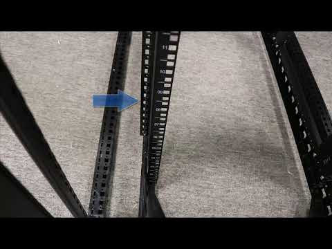 Installing Air Brush Baffles In a 800w x 2000h Rack with Z-Rails